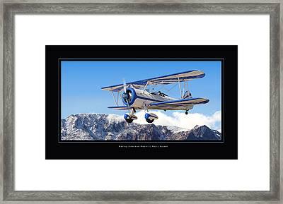 Pt-17 Stearman Framed Print by Larry McManus