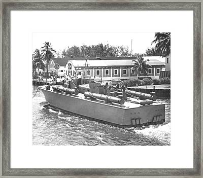 Pt Boat Framed Print by Retro Images Archive