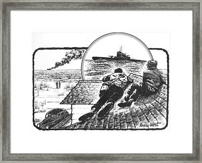 Pt Boats Off Nc Coast In Wwii Framed Print