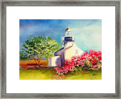 Pt Loma Lighthouse Framed Print by Lori Chase