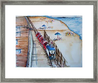Pt Pleasant Nj Sand Train Framed Print