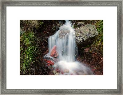 Ptarmigan Trail Waterfall No.2 Framed Print by Daniel Woodrum
