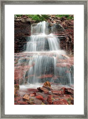 Ptarmigan Trail Waterfall No.4 Framed Print by Daniel Woodrum
