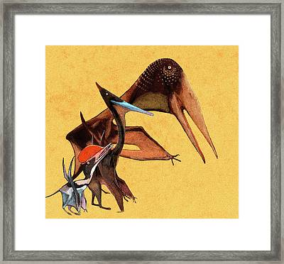 Pterosaur Size Comparison Framed Print by Nemo Ramjet