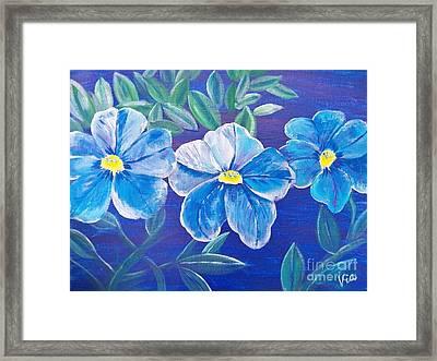 Ptg. Blue Million Bells Framed Print