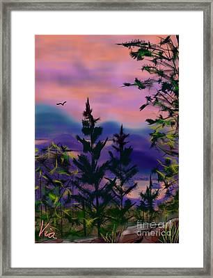 ptg.  Mount Baker View Framed Print