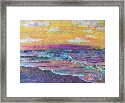 ptg  Sanibel Sunset Framed Print