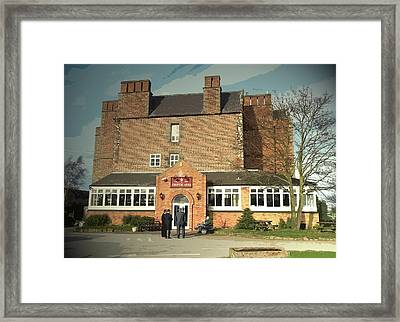 Pub And Hall In Weston-on-trent, Weston Hall Framed Print by Litz Collection