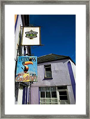 Pub Signs, Eyeries Village, Beara Framed Print