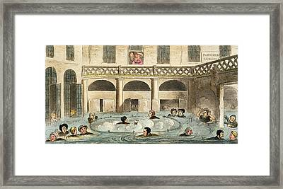Public Bathing At Bath, Or Stewing Framed Print