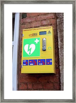 Public Defibrillator Framed Print by Martin Bond