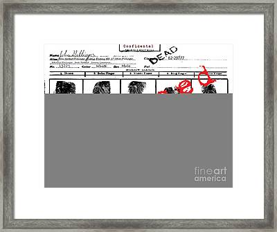 Public Enemy No 1. Confidential Framed Print by Brittany Perez