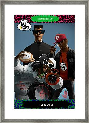Public Enemy Ntv Card Framed Print