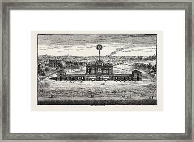 Public Fireworks, 1748, London, Uk Framed Print