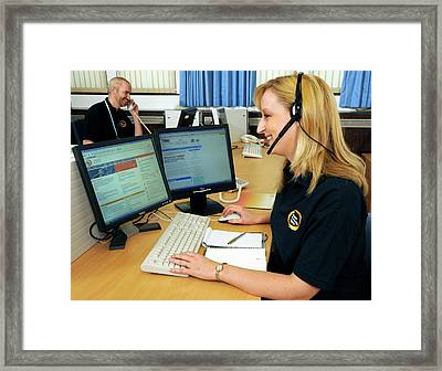 Public Health Call Centre Framed Print