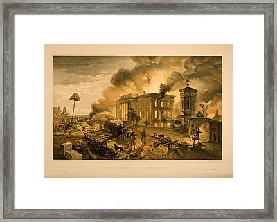 Public Library And Temple Of The Winds  W. Simpson Del.  E Framed Print