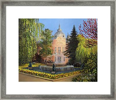 Public Library In Russe Framed Print by Kiril Stanchev