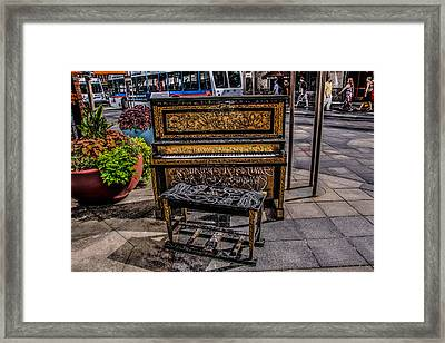 Framed Print featuring the photograph Public Piano by Ray Congrove