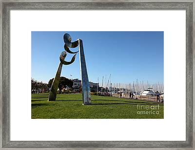 Public Sculpture At The San Francisco Pier 39 5d26149 Framed Print