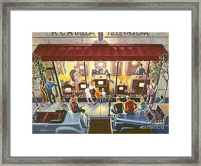 Public Television Framed Print by Michael Young