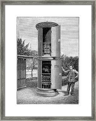 Public Transformer Station Framed Print by Science Photo Library