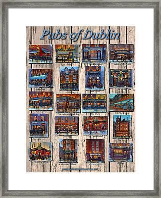 Pubs Of Dublin Ireland Framed Print by Chris Mc Morrow