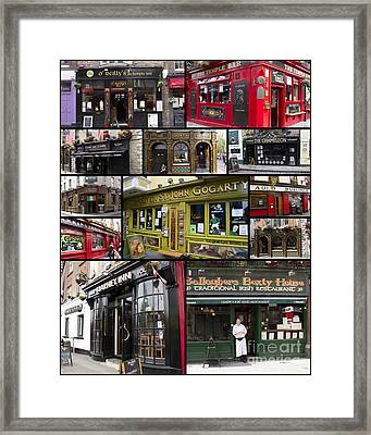 Pubs Of Dublin Framed Print