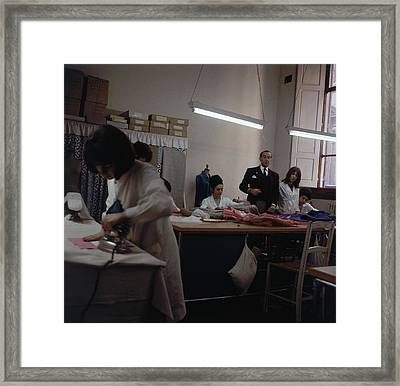Pucci In A Workroom Framed Print