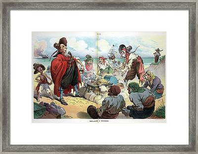 Puck Cartoon, 1906 Framed Print by Granger