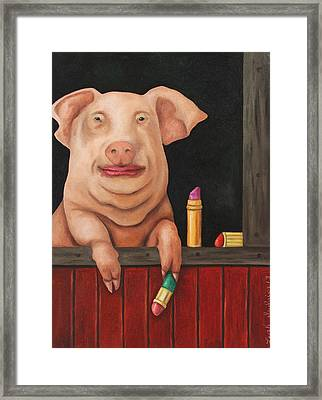 Pucker Up Framed Print