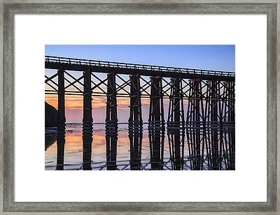 Pudding Creek Trestle Framed Print