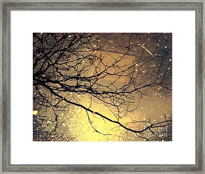 Puddle Art 3 Framed Print