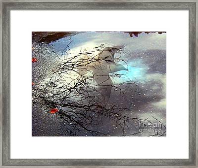 Puddle Art Framed Print