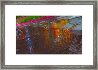 Puddle Art Paved Framed Print by ARTography by Pamela Smale Williams