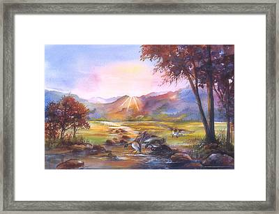 Puddle Ducks Framed Print by Patricia Schneider Mitchell