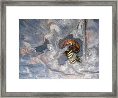 Puddle Of Sunsphere Framed Print