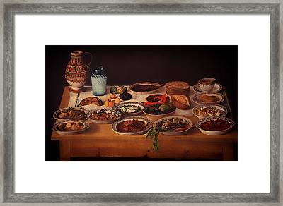 Puebla Kitchen Framed Print