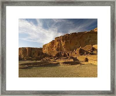 Pueblo Bonito Afternoon Framed Print