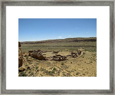 Pueblo Bonito From Above Framed Print by Feva  Fotos