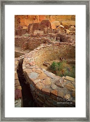 Pueblo Bonito Framed Print by Inge Johnsson