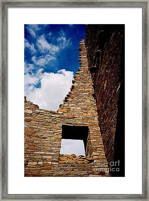 Framed Print featuring the photograph Pueblo Bonito New Mexico by Jacqueline M Lewis