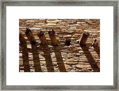Pueblo Bonito Wall Framed Print by Joe Kozlowski