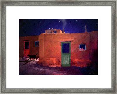 Pueblo Cat Framed Print