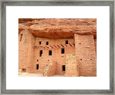 Pueblo Cliff Dwellings Framed Print by Tony Crehan