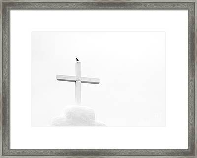 Pueblo Cross Framed Print