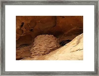 Pueblo Indian Ruins Framed Print by Jeff Swan