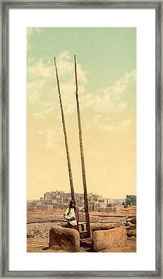 Pueblo Kiva, C1900 Framed Print