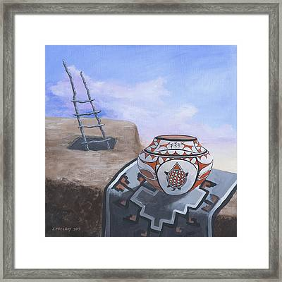 Pueblo Life Framed Print by Jerry McElroy