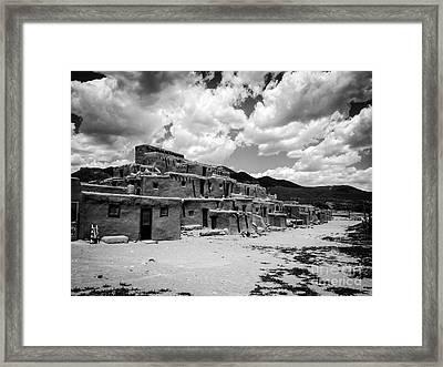 Pueblo Skies Framed Print