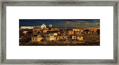 Pueblo Sunrise Framed Print